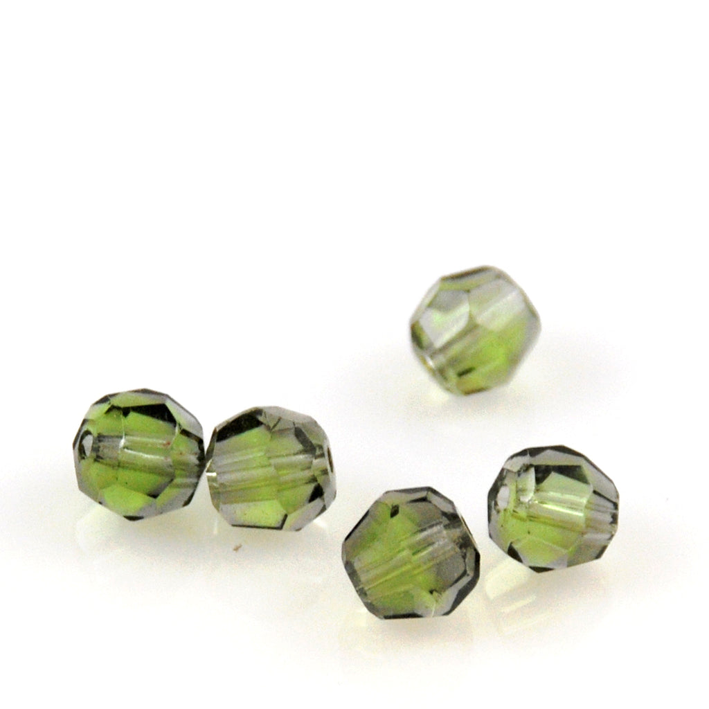 Green Crystal Beads Vintage