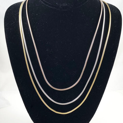 Henkel and Grosse Tri-Color Gold Snake Necklace Vintage