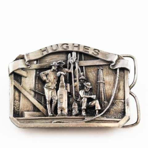 Hughes Tool Pewter Belt Buckle