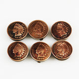Indian Head Coin Button Covers or Cuff Links