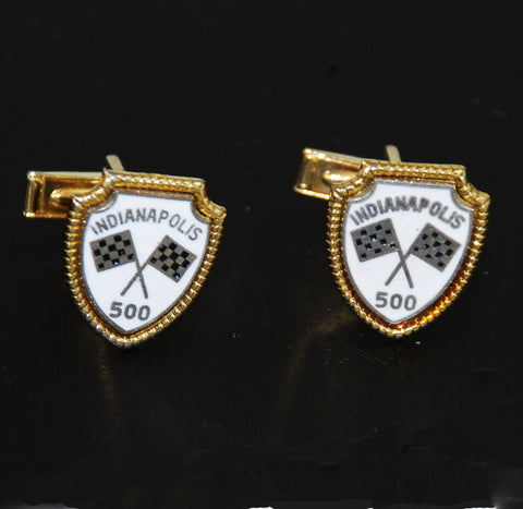 Indianapolis 500 Flag Cuff Links