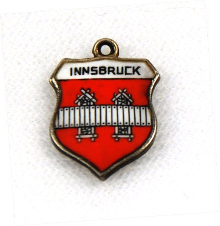 Innsbruck, Austria Travel Shield Silver Charm