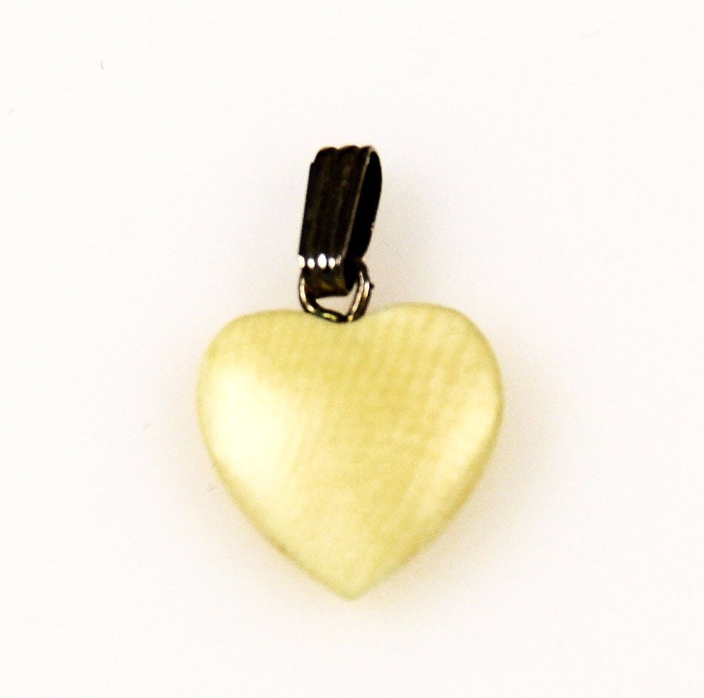 Ivory Heart Charm Vintage