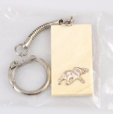 Vintage Ivory Key Chain by PG Mavros