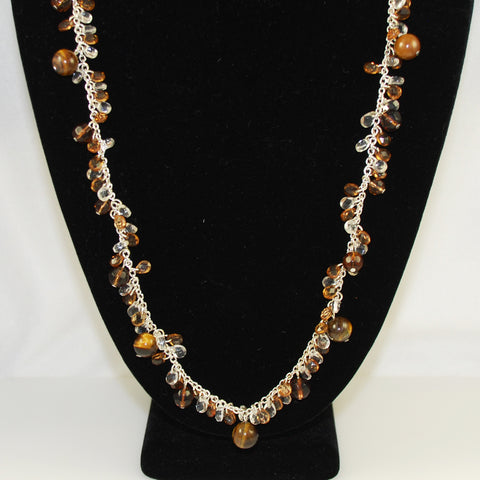 Joan Rivers Tiger's Eye Necklace