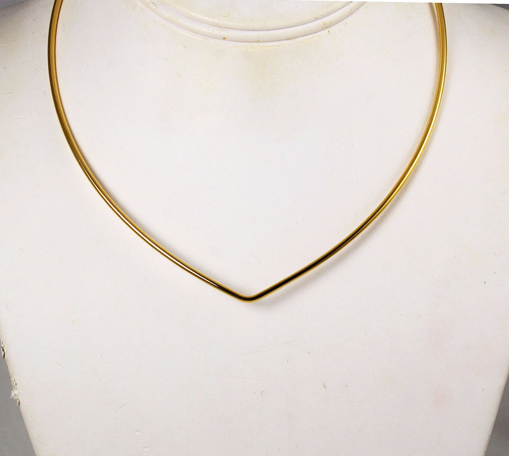 Joan Rivers Gold Hook-On Wire Necklace