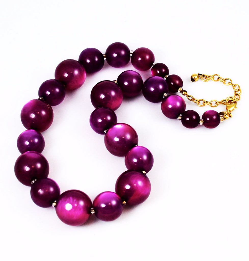 Joan Rivers Purple Lucite Moonglow Necklace