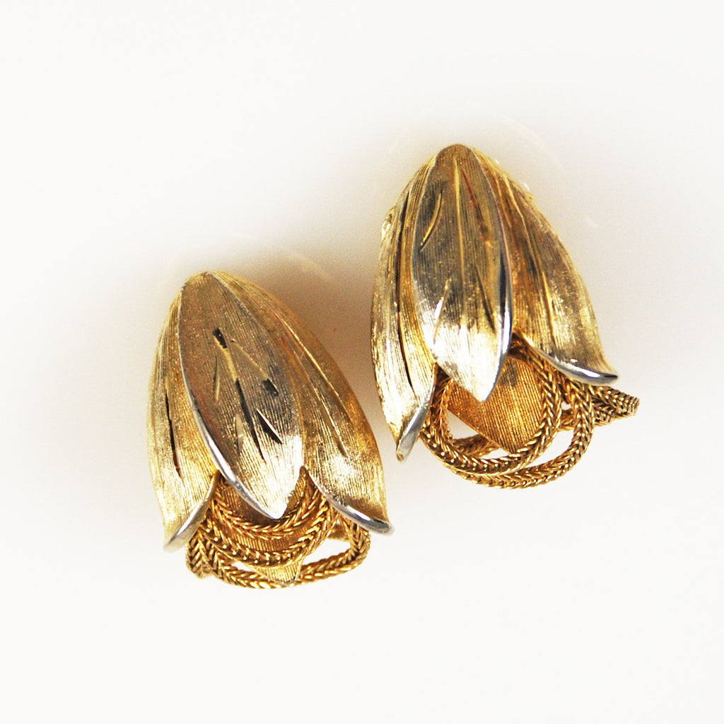 Kramer Gold Earrings Clip On