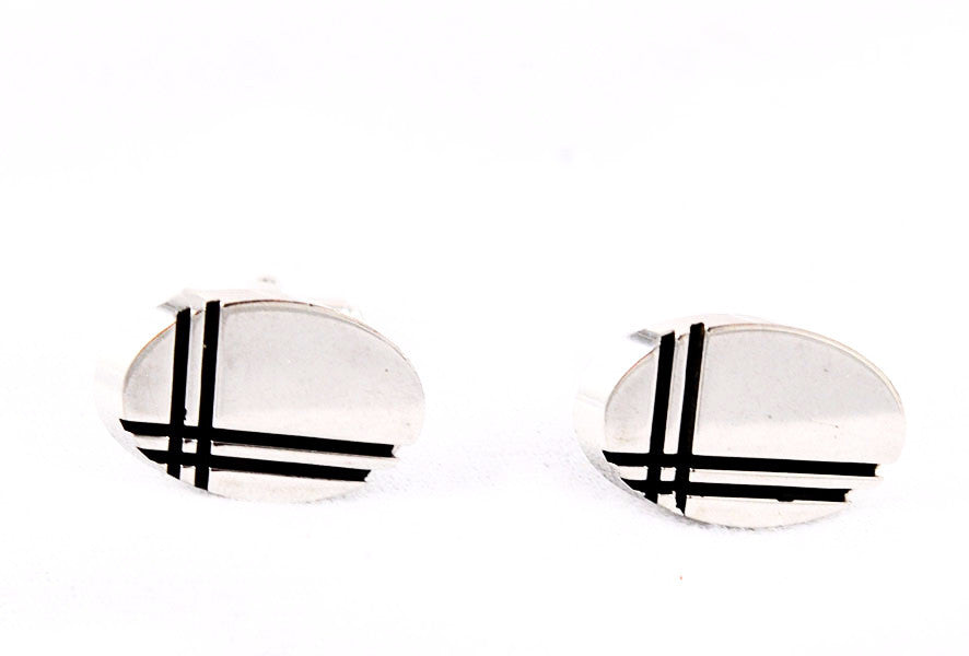 Jacques Kreisler Craft Stainless Steel Cuff Links