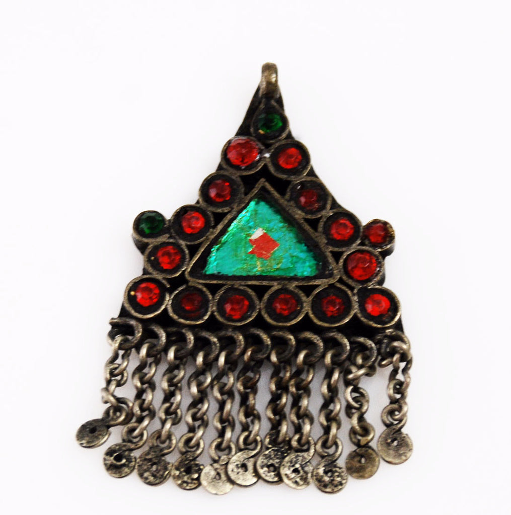 Kuchi Afghan Triangle Pendant Vintage Silver