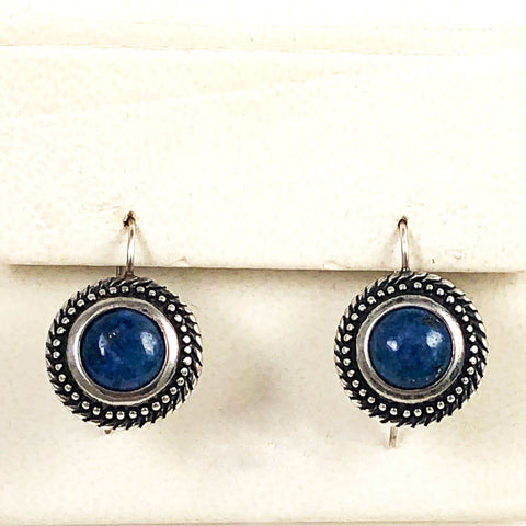 Lapis Sterling Pierced Earrings