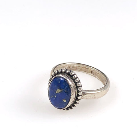 Lapis Sterling Silver Ring 7½