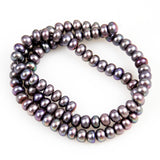 Lavender Button Pearl Beads