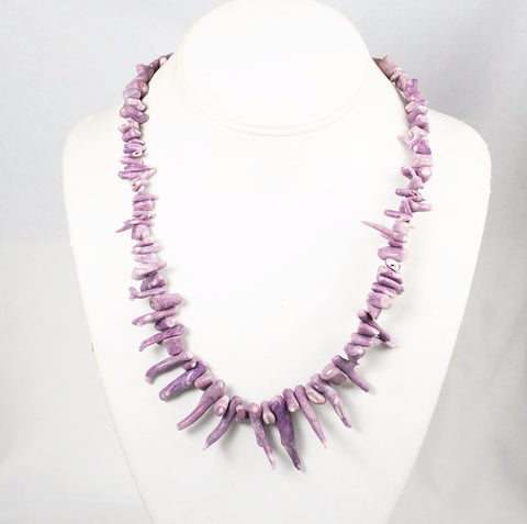 Rare Lavender Branch Coral Necklace