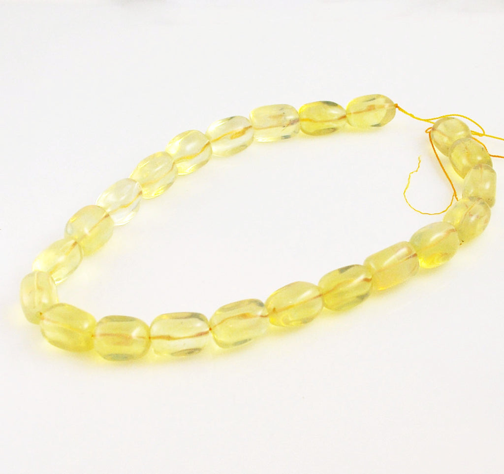 Lemon Quartz Rectangle Gemstone Bead Strands