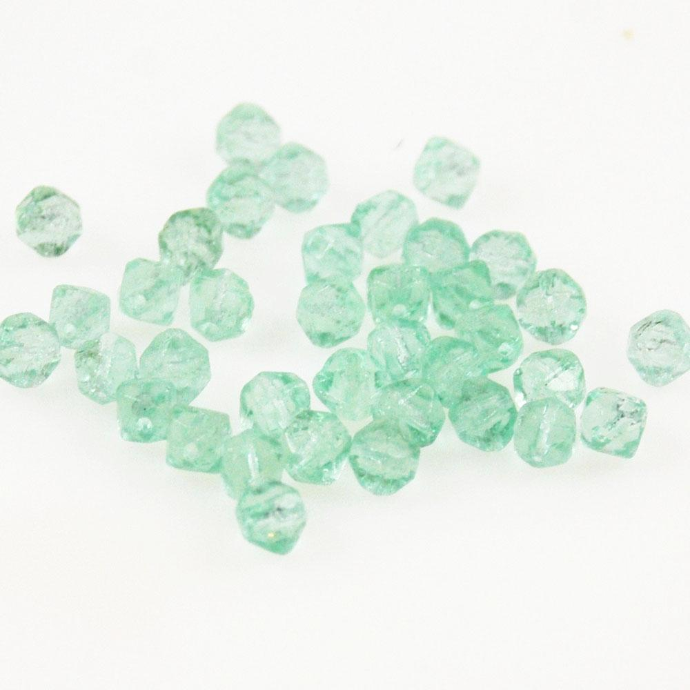 Light Green English Cut Glass Beads