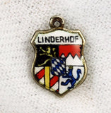 Linderhof, Germany Travel Shield Silver Charm