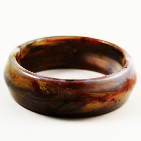 Mississippi Mud Lucite Bangle Bracelet