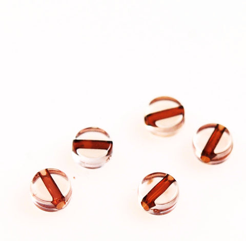 Clear Lucite Coin Beads 8mm (24)