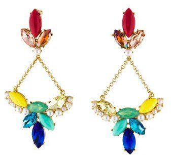 Lulu Frost Chandelier Earrings NWT