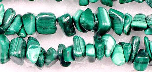 Malachite Chip Bead Strands Gemstone