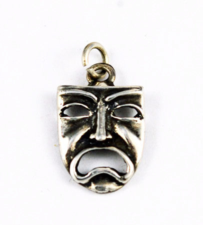 Sterling Silver Greek Tragedy Mask Charm