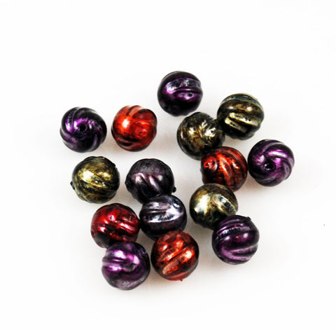 10mm Royal Colored Lucite Bead Mix