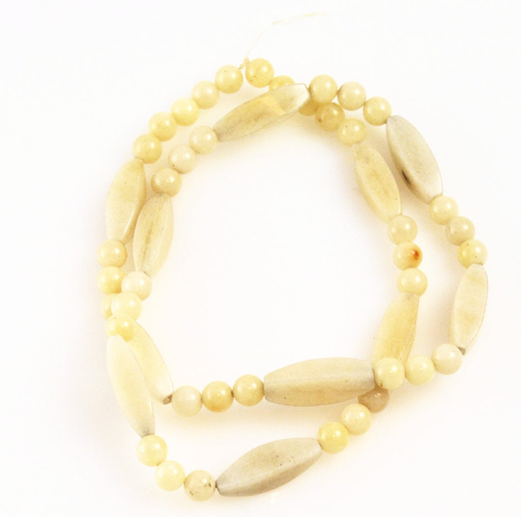 Mexican Onyx Bead Strand Carved