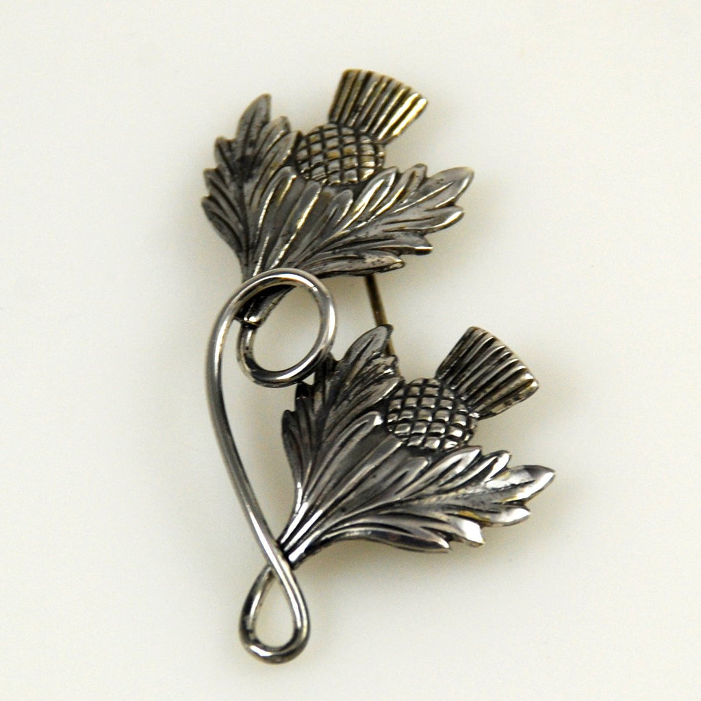 Sterling Silver Thistle Brooch by Michele