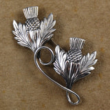 Sterling Thistle Brooch Michele