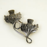 Michele Thistle silver brooch