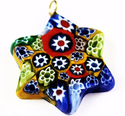 Millefiori Glass Star Pendant