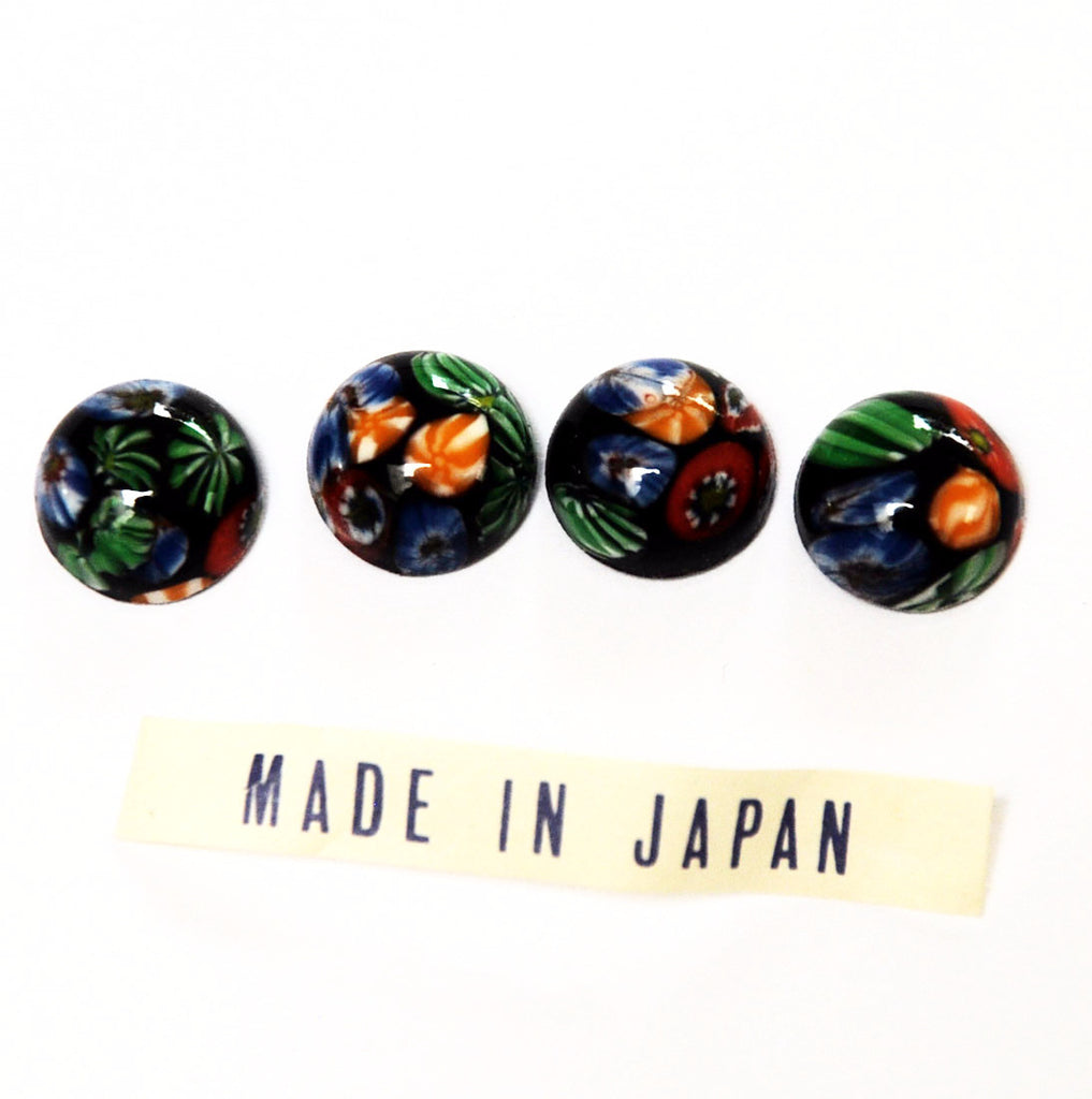 Cherry Millefirori Glass Cabochons