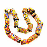 Antique Millefiori African Trade Beads Strand