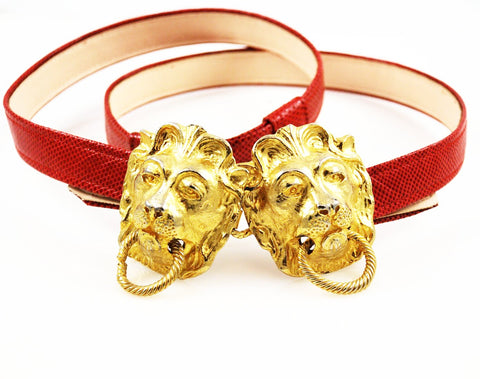 Mimi Di N Lion Buckle & Red Belt