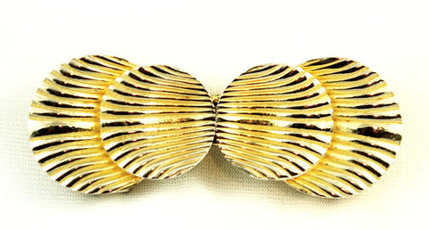 Mimi Di N Gold Plated Shell Buckle
