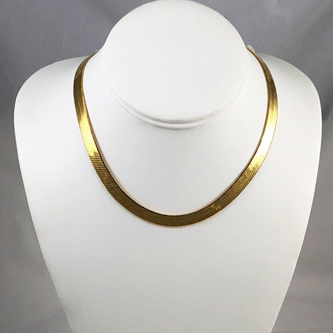 Monet Gold Snake Chain Necklace
