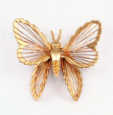 Monet Large Spinneret Butterfly Pin 1963