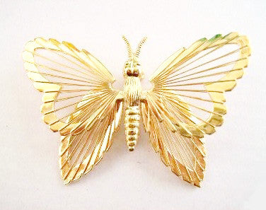 Monet Small Spinneret Butterfly Pin 1963