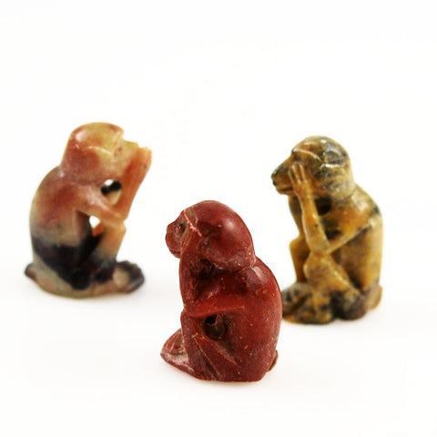 Three Wise Monkey Pendants