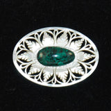 Mother of Pearl and Eilat Gemstone Brooch from Israel