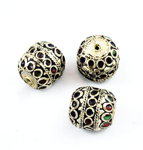 Large Moroccan Enamel Beads 24mm