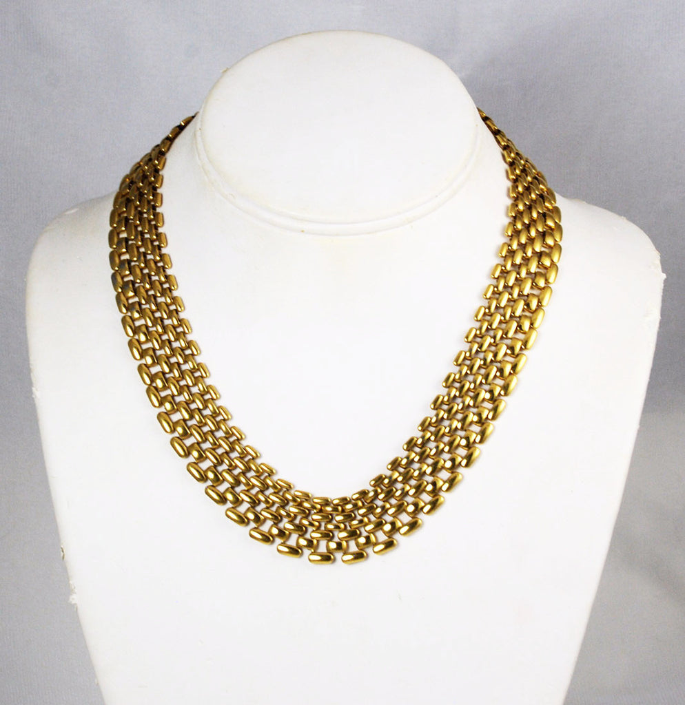Napier Gold Panther Necklace