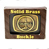Brass Oilwell Buckle New In Box