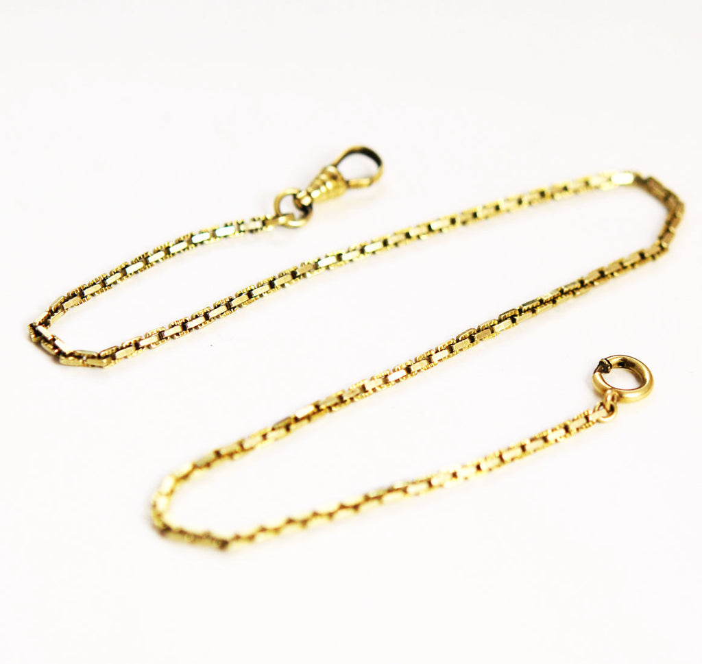 Antique Gold Filled Pocket Watch Chain by OMD