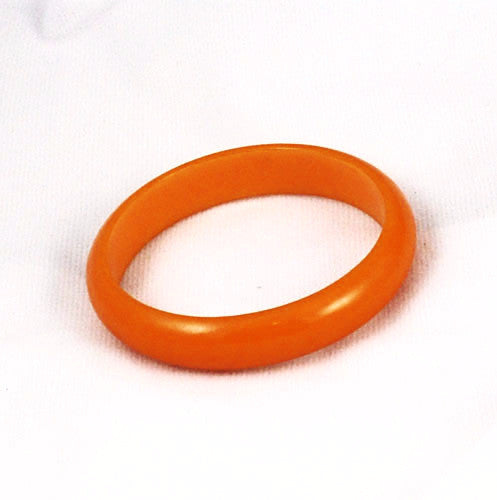Bold orange Bakelite bangle bracelet