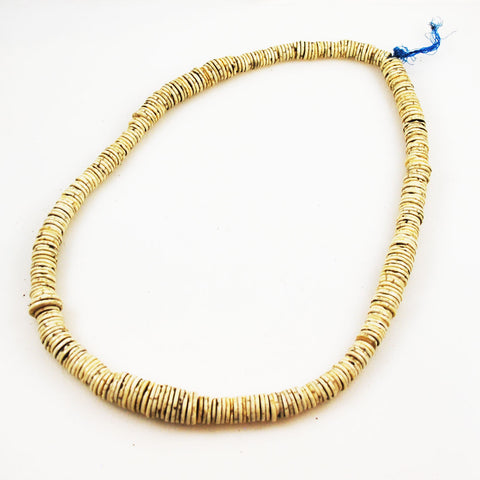 African Ostrich Shell Trade Beads Necklace