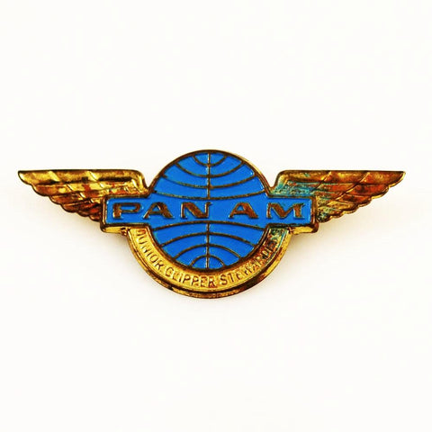 Pan Am Airlines Junior Clipper Stewardess Metal Wings