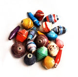 African Recycled Paper Beads Mix