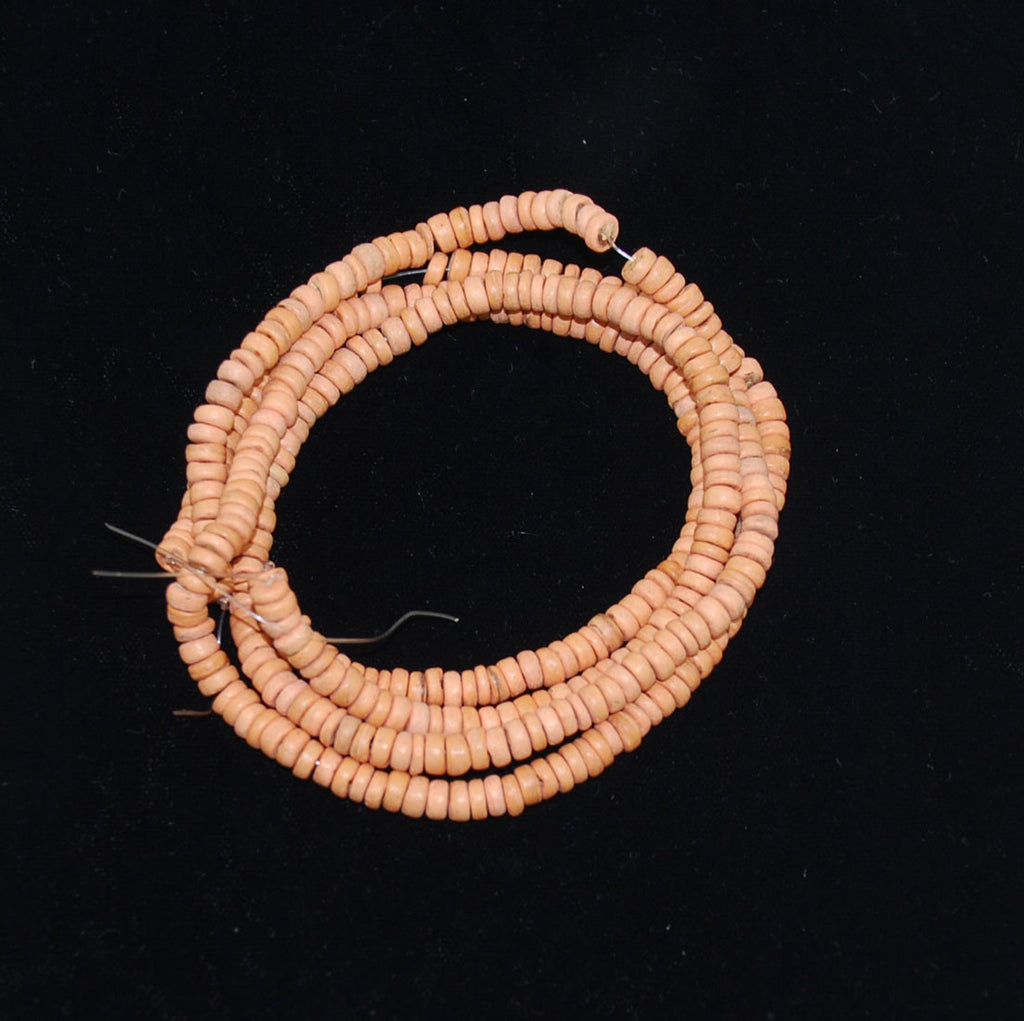 Peach Coco Disk Bead Strands 5mm